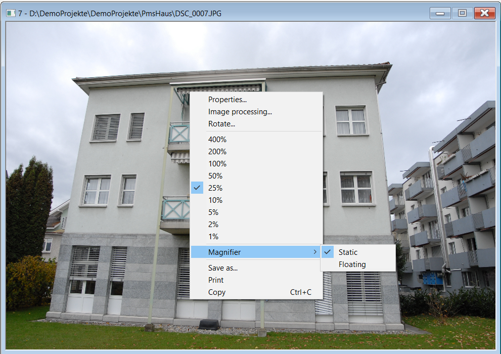 Context Menu of an Photo
